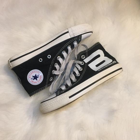 Converse Shoes - kpop big bang black converse shoes
